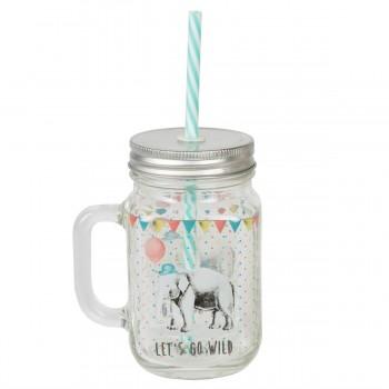 Party animals drinking jar