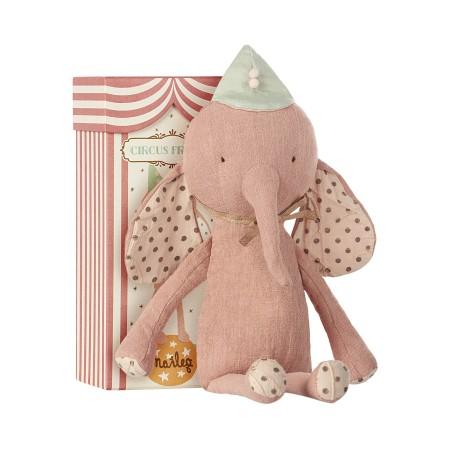 Muñeco peluche elefante Rosa.
