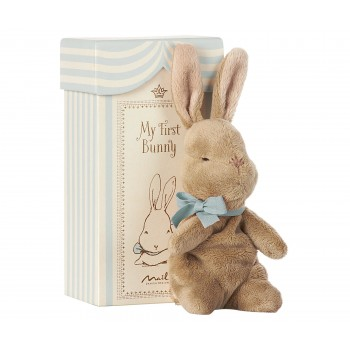 My First bunny in box blue