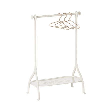 Clothes rack off-white with 3 hangers