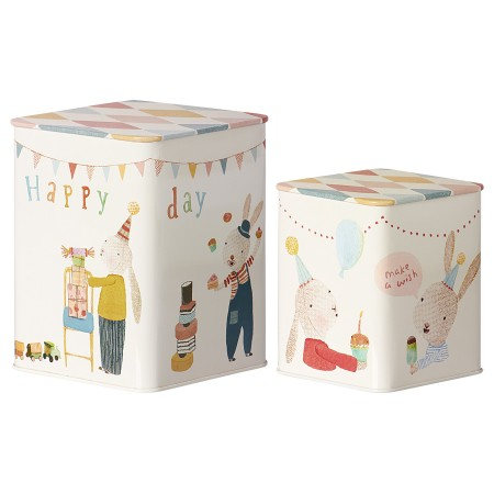 Caja de lata Happy Day. Set 2 u.