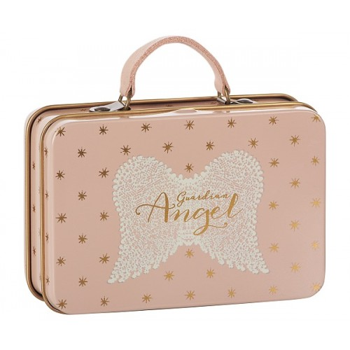 Metal Suitcase, Rose, Gold stars