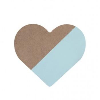 Corazón menta de madera.