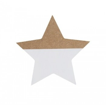 Estrella blanca, de madera.