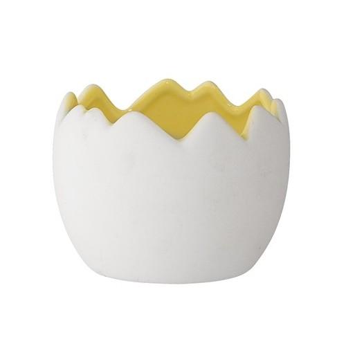 Egg flowerpot white