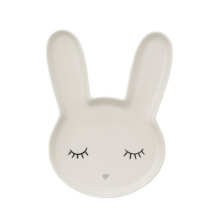 Smilla bunny plate white