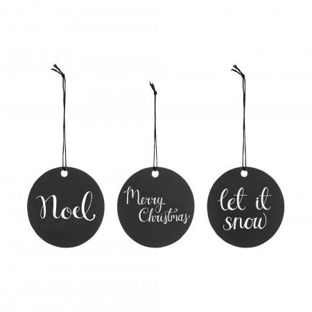 Etiqueta black Navidad, Set 3 u.
