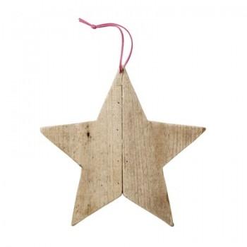 Ornament nature wood star