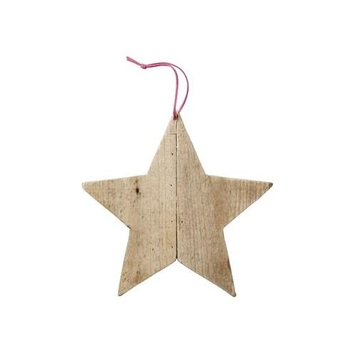 Estrella madera decoración
