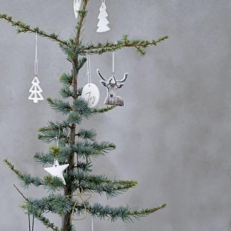 Christmas silver gift tags, set of 8