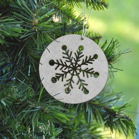 Bolas Navidad madera copos (I). Set 3u.