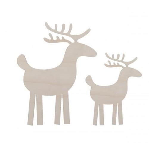 Xmas reindeers. Set of 2
