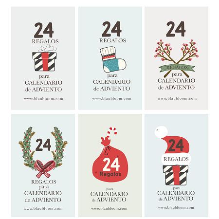 24 Regalos para calendario de Adviento