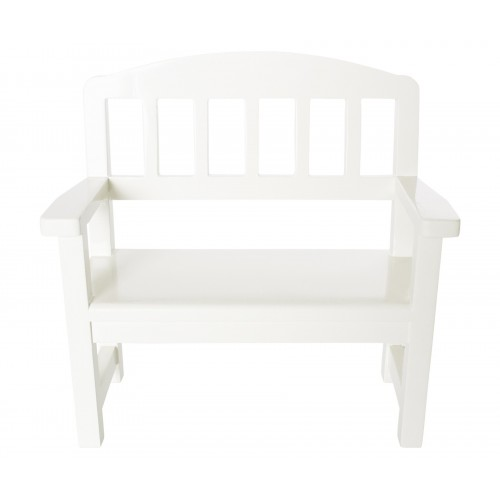 Wooden bench off-white