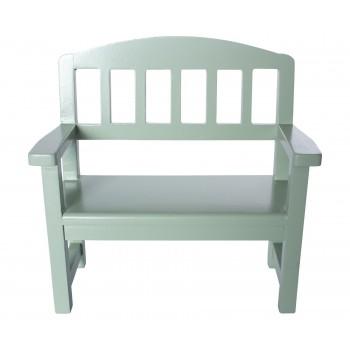 Wooden bench, green