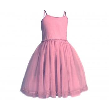 Disfraz, vestido princesa bailarina, rosa fucsia. Talla 6 / 8