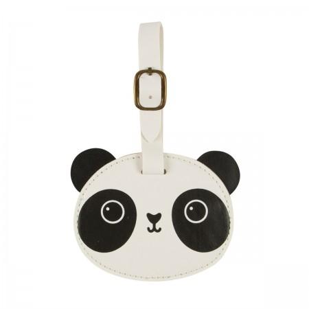 Etiquetas para equipaje panda.