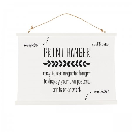 White Print Hanger Large