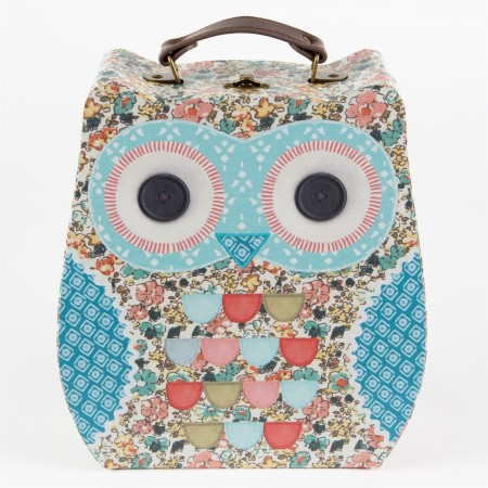 Set Of 2 Floral Friends Clara The Owl Suitcases