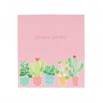 Carpeta notas adhesivas cactus