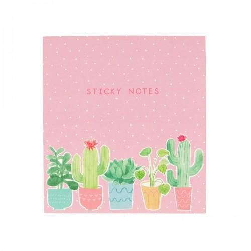 Pastel cactus sticky note set