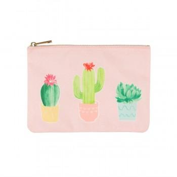 Pastel cactus pouch