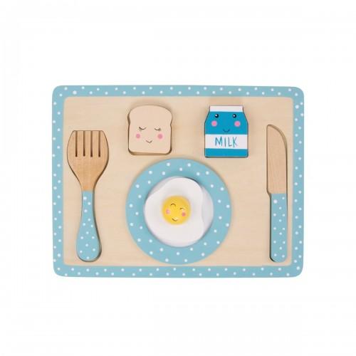 Blue kitchen breakfast playset