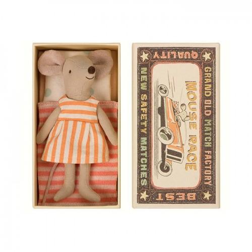 Ratoncita vestido rayas, en caja (Big)