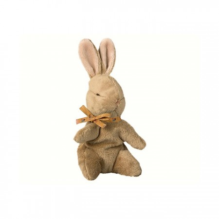 Baby bunny brown, ocher ribbon