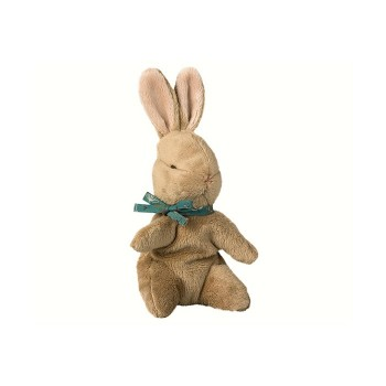 Baby bunny brown, blue ribbon