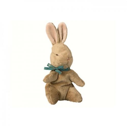 Baby bunny brown, blue ribbon