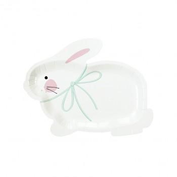 Platos de papel forma conejito Bunny (8u.)