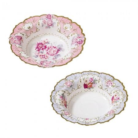 Truly Scrumptious Floral Paper Bowls (12u.)