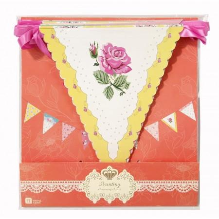 Guirnalda de papel flores Vintage