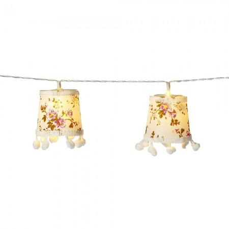 Guirnalda lámparas luces led flores Vintage