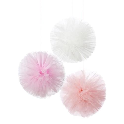 Pink Pom Poms (3u.)