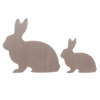 Conejitos Easter 3 de madera. Set de 2.