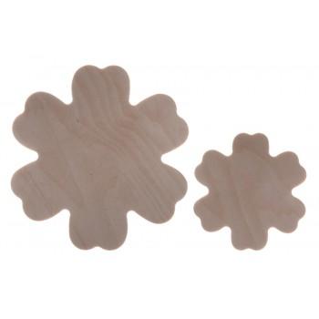 Flores duo 6 de madera. Set de 2.