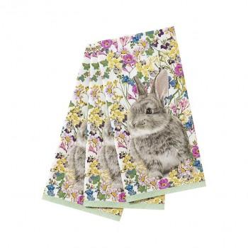 Servilletas de papel flores Bunny (20u.)
