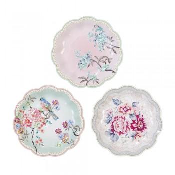 Truly Romantic Dainty Paper Plates (12u.)