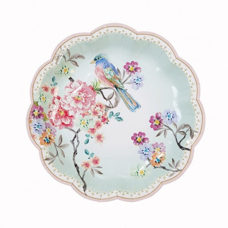 Truly Romantic Dainty Paper Plates (12u.)