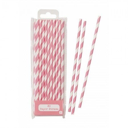 Pink Straws (30 u.)