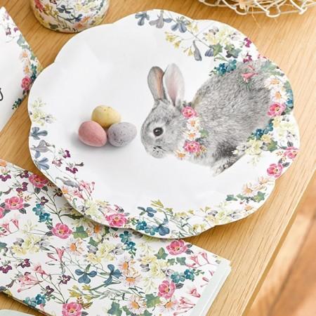 Guirnalda de papel conejitos Bunny