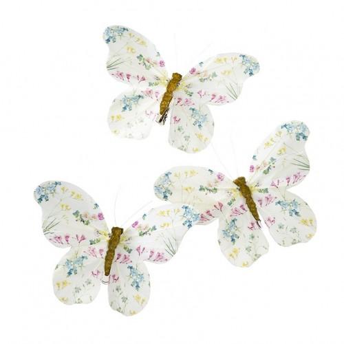 Mariposas con pinza Fairy (6u.)