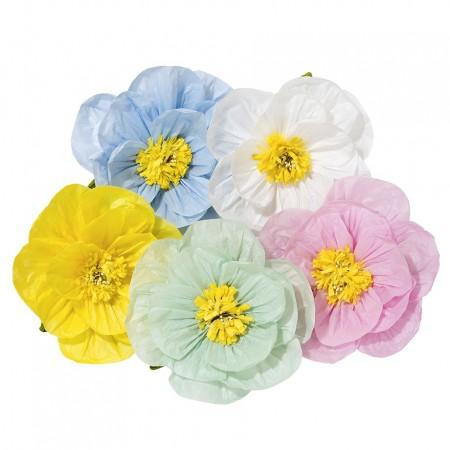 Flor Poppy decoración de papel (1u.)(Pequeña)