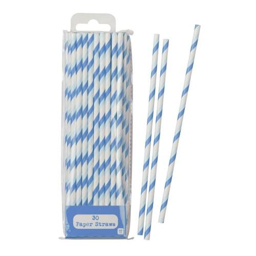 Blue Straws  (30 u.)