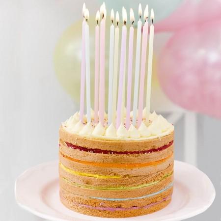 Velas colores cumpleaños (16u.)