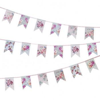 Guirnalda de papel banderines Romantic