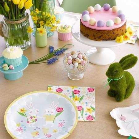 Platos de papel conejitos Bunny (8u.)