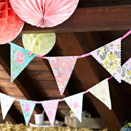 Guirnalda de papel triángulos Vintage